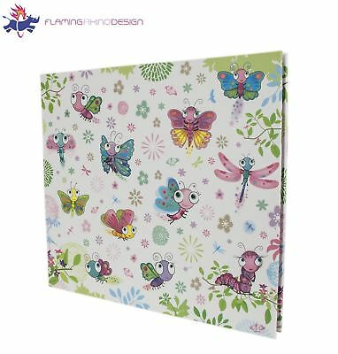 "Flaming Rhino Design Slip-in 160 Photo Album ""Fluterflies"" Butterfly Print"