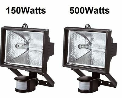 150/500W Halogen Light With Pir Sensor Outdoor Garden Floodlight Security