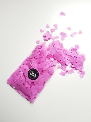 5000 MINI PREMIUM Heart confetti custom colours for 5 guests/ cones