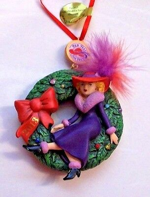 "2013 Danbury Mint ""Ruby's Christmas Wreath"" Ruby Red Hat Society ornament"