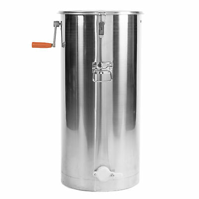 Two 2 Frame Stainless Steel Bee Honey Extractor SS Honeycomb Drum (BEE-V002C)