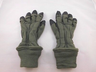 US Military Sage Green Black FR Nomex Cold Weather Flyers Flight Gloves S Small