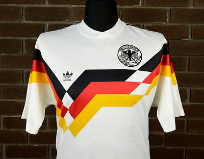Embroidered 1990 West Germany home retro football shirt kit top jersey UK