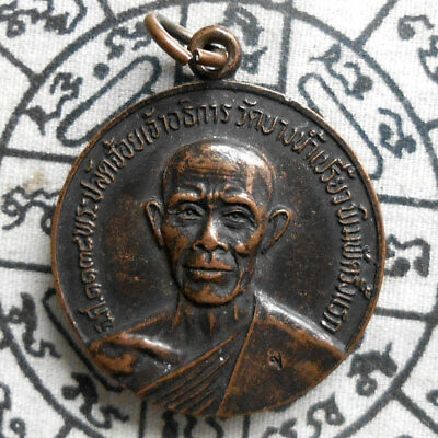 Genuine Buddha Phra LP. Choi Magic Holy Thai Amulet Pendant Life Protect Wealth