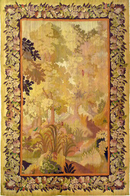 Antique Collectible 19th Century Aubusson Wall Tapestry