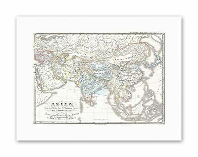 MAP 1855 SPRUNER ASIA 9TH 10TH CENTURIES Vintage Canvas art Prints