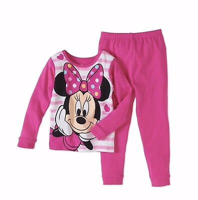 Minnie Mouse Baby Toddler Girls Cotton Tight-Fit Pajama 2 PC Set 18 Month
