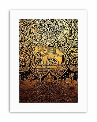 ORNATE ABSTRACT THAILAND ELEPHANT Poster Painting Drawing Canvas art Prints