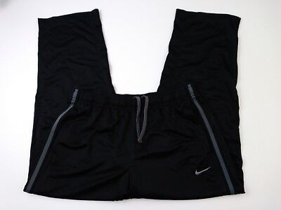 Nike Women's Size XL Black Athletic Drawstring Track Pants Polyester (aa-1)