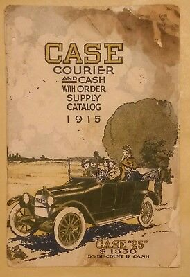ORIGINAL 1915 Case Courier and Cash with Order Supply Catalog Fair Condition