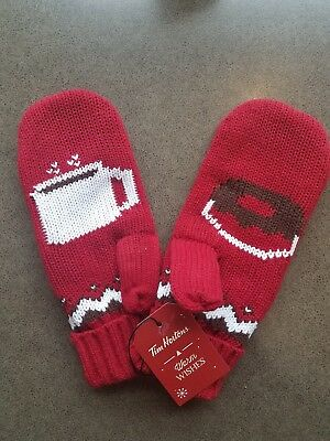 Tim Hortons Warm Wishes Ltd Ed Holiday 2016 Mittens Coffee Donut Winter Hipster