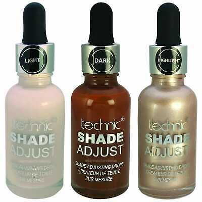 Technic Foundation Shade Adjust, Adjusting Drops, Various Available or Sets