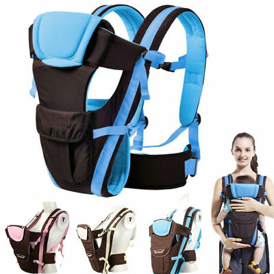 Newborn Baby Carrier Sling Wrap Backpack Front Back Chest Ergonomic 4 Position