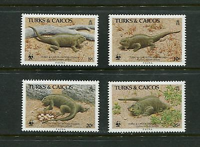IGUANAS/WWF - Turks & Caicos - 1986 set of 4 - (SC 710-13) -MNH- C237