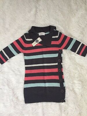 GIRL S SWEATER DRESS by Bobbie Brooks Size Large 10-12 NWT Pink Gray ... d05d3231a