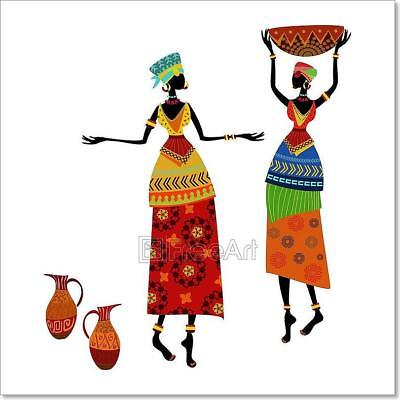 Beautiful African Woman In Traditional Costume Art Print Home Decor Wall Art