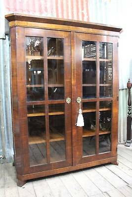 A Classical French Art Deco Mahogany Glazed Display Cabinet - Armoire Cupboard