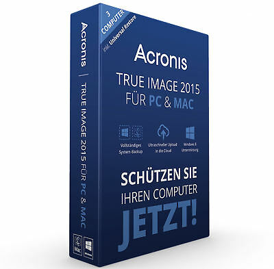 Acronis True Image 2015 3 PC / MAC Backup & Recovery / Vollversion / Deutsch