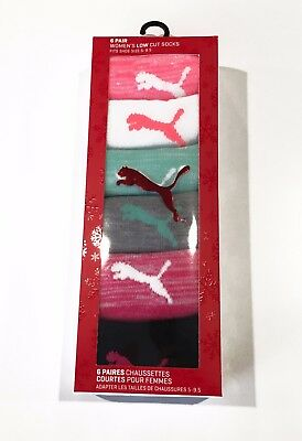 NEW 6 pair of Women's Puma Low Cut Athletic Socks | various colors | Size 5-9.5