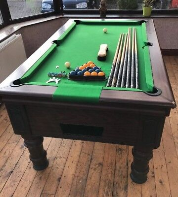SNOOKERPOOL Table Slate Bed With Pool Balls Ft X Ft - Adjustable pool table