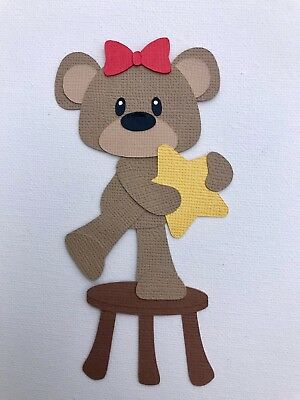 Christmas bear with star paper piecing