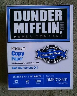 Dunder Mifflin Copy Paper 1 Ream of 500 sheets New The Office