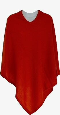 Cashmere Poncho Red Winter Women Pashmina Cardigan Warm Wrap Cape 28""