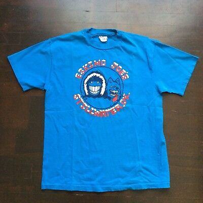 Vintage Eskimo Joe's Jumpin Juke Joint 80s Turquoise T Shirt Mens L Fits Med USA