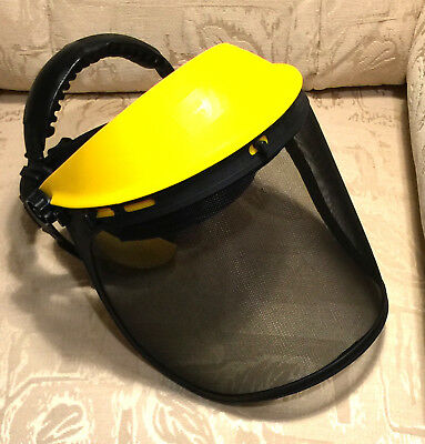 Rocwood Face Guard Visor with Ear Defenders Mesh screen for Strimmer Chainsaw