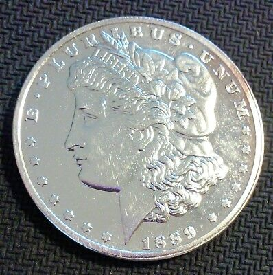 1889 Morgan Silver One Dollar Copy Reproduction in Hard Shell Case