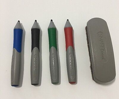 Smart Board 600 Complete Set of Pens Red Green Black Blue and Eraser