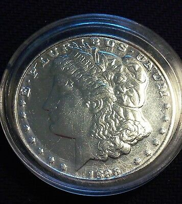 1893 Morgan Silver One Dollar Copy Reproduction in Hard Shell Case