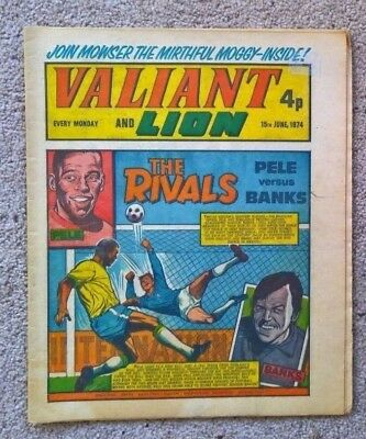 1 x Valiant and Lion comics - Dated 15/06/1974
