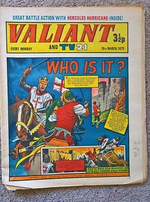 1 x Valiant and Lion comic - Dated 10/03/1973
