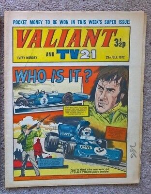 1 x Valiant and Lion comic - Dated 29/07/1972