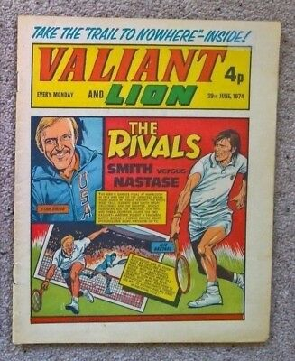 1 x Valiant and Lion comic - Dated 29/06/1974