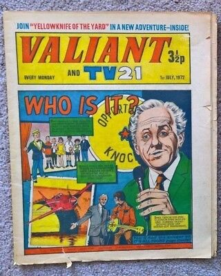 1 x Valiant and TV21 comic - Dated 01/07/1972