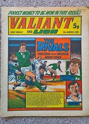 1 x Valiant and Lion comic - Dated 18/01/1975