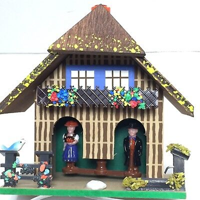 German Toggili Weather House with Bavarian Couple Made in Germany