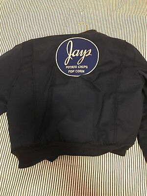 Vintage JAYS Potato Chips Delivery Drivers Jacket Navy Sz L Needs Zipper
