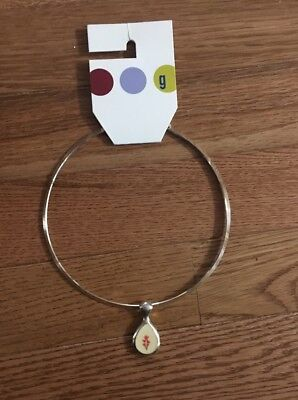 Gymboree Vintage Necklace Pendant RARE HTF 2001? Mad about Plaid Holiday Cheer