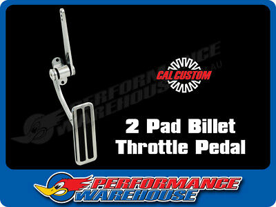 Billet Aluminum Accelerator Throttle Pedal 2 Inserts Street Rod Hot Rod Polished