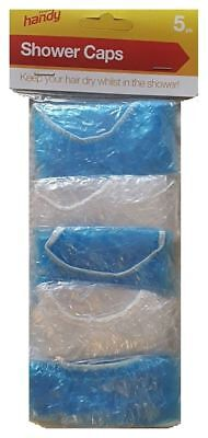Shower Caps Disposable Polythene Waterproof Hair Bath Travel Elasticated Fast Pp