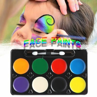 8 Colors Make Up Face Body Paint Palette Fun Cosplay Fancy Painting Kit Set New