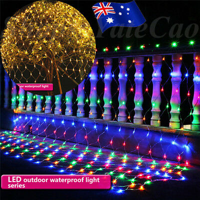 2M*3M 200LED Net Mesh Fairy Lights String Wedding Christmas Party In/Outdoor