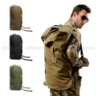 Outdoor Camping Hiking Backpack Shoulder Bag Travel Sports Canvas Duffle Bag
