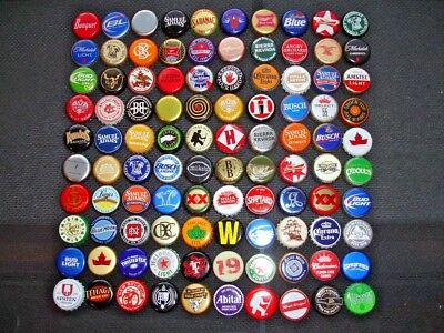 100 Different Unbent - Beer Bottle Caps (Micro, Craft, Domestic, Imports)