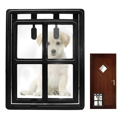 2 Way Dog Door for Small Medium Large Dogs Plastic Doggy Door Gate Flap