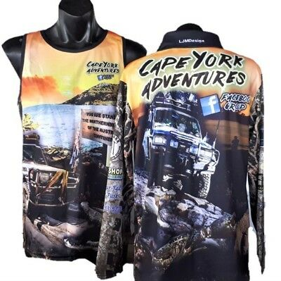 Official Cape York Adventures Facebook Group Fishing Shirt Yellow