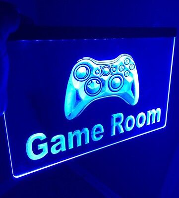 GAME ROOM LED Light Neon Sign for Game Room,Office,Bar,Man Cave, Arcade Room.